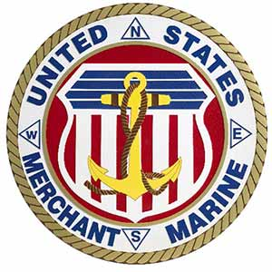 merchant marine full, color military plaque, merchant marine painted round military plaques